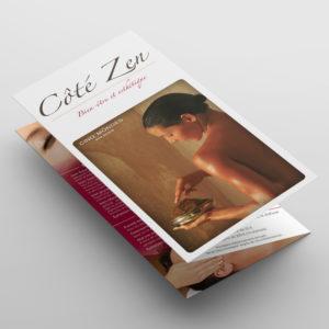Dépliant tarifs – Côté Zen esthétique