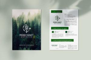Logo et identité graphique – Perronnet Bois Gestion