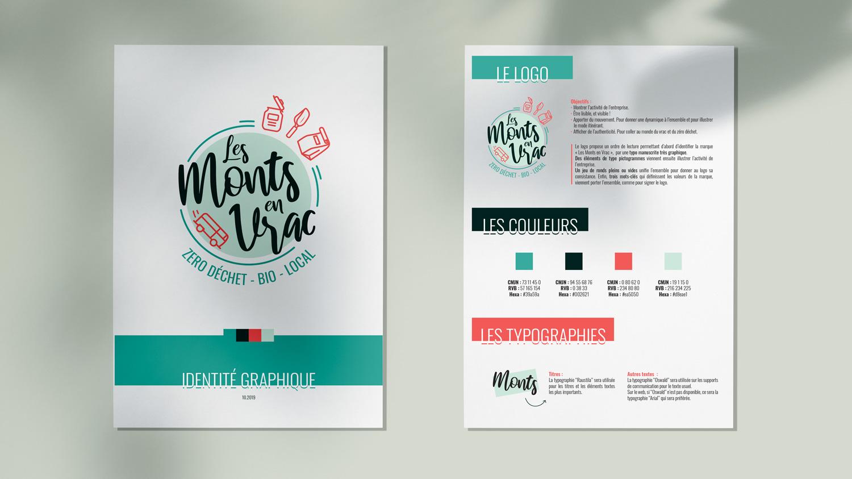 Charte graphique Les Monts en Vrac